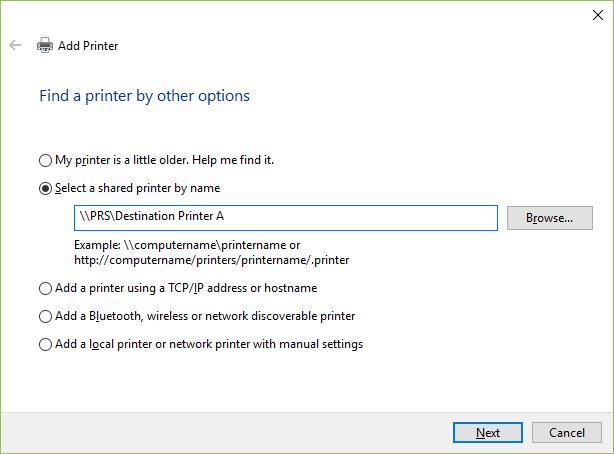 Follow Me Printing - Print to a Different Printer